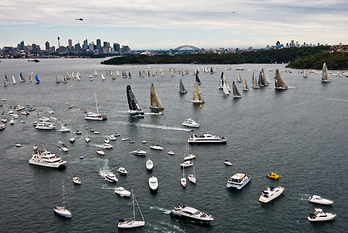The fleet, after the start of the Rolex Sydney Hobart 2010, Australia. Photo copyright Carlo Borlenghi, Rolex.