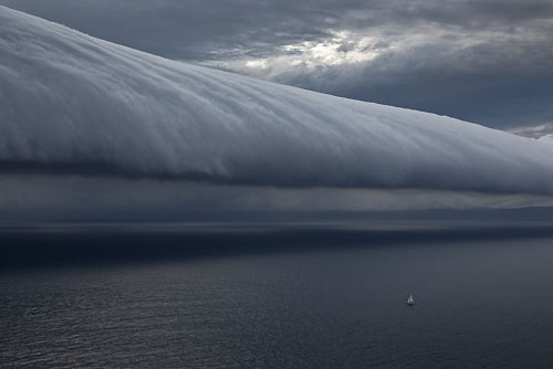 The southerly buster storm front rolling up the New South Wales South Coast, ahead of the first night at sea, after the start of the Rolex Sydney Hobart Yacht Race 2010, Australia. Photo copyright Carlo Borlenghi, Rolex.