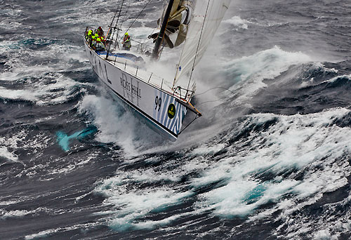 Sean Langman and Anthony Bell's Elliott Maxi Investec Loyal, dealing with the fury of the Tasman Sea during Rolex Sydney Hobart Yacht Race 2010, Australia. Photo copyright Carlo Borlenghi, Rolex.