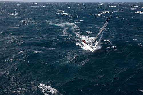 Chris Bull's Cookson 50 Jazz, off the New South Wales south coast during the Rolex Sydney Hobart Yacht Race 2010. Photo copyright Carlo Borlenghi, Rolex.