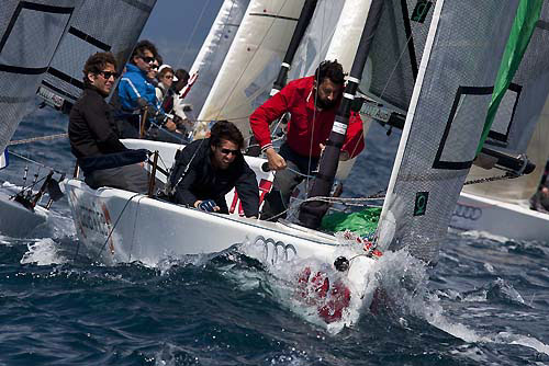 Marina di Scarlino, 17/04/11. Audi Melges 20. Lucifero. Photo copyright Luca Butto' for Stuido Borlenghi.