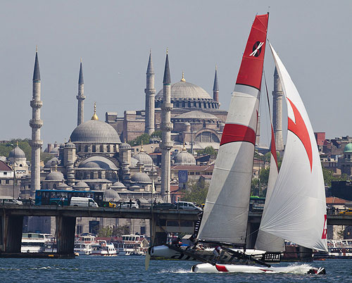 Istanbul, 25-05-2011 Extreme Sailing Series 2011 - Act 3 Istanbul. Race Day 1 Alinghi. Photo copyright Stefano Gattini for Studio Borlenghi.