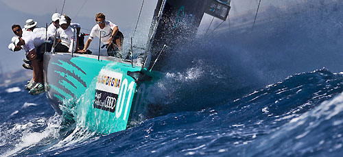 TP52 Training Day, Quantum Racing, during the Audi MedCup Circuit 2011, Cagliari, Sardinia, Italy. Photo copyright Guido Trombetta for Studio Borlenghi.
