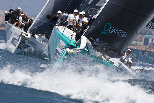 TP52 Series Day 1 - Quantum Racing, during the Audi MedCup Circuit 2011, Cagliari, Sardinia, Italy. Photo copyright Stefano Gattini for Studio Borlenghi.
