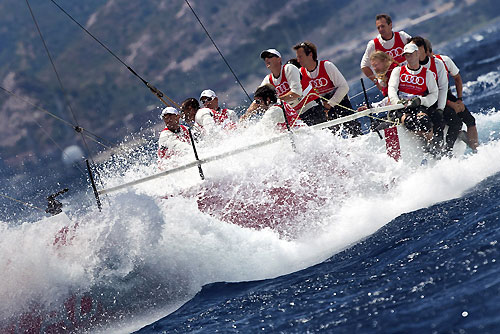 TP52 Day 1 - Audi Sailing Team powered by ALL4ONE, during the Audi MedCup Circuit 2011, Cagliari, Sardinia, Italy. Photo copyright Stefano Gattini for Studio Borlenghi.