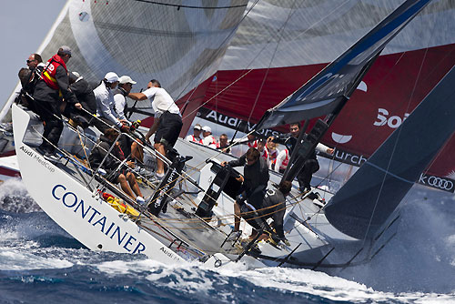 TP52 Day 1 - Container, during the Audi MedCup Circuit 2011, Cagliari, Sardinia, Italy. Photo copyright Stefano Gattini for Studio Borlenghi.