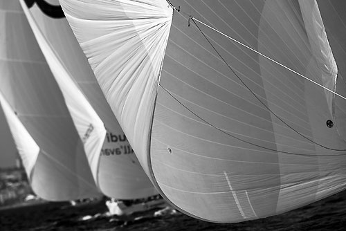 TP52 Series Day 3 - Fleet, during the Audi MedCup Circuit 2011, Cagliari, Sardinia, Italy. Photo copyright Stefano Gattini for Studio Borlenghi.