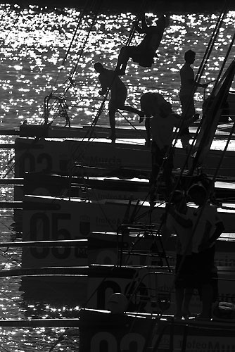 Dockside, Region of Murcia Trophy, during the Audi MedCup Circuit 2011, Cartagena, Spain. Photo copyright Stefano Gattini for Studio Borlenghi.