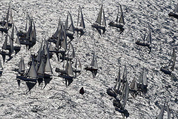 The 43rd Barcolana, Trieste, Italy, October 9, 2011, the massive fleet. Photo copyright Carlo Borlenghi.