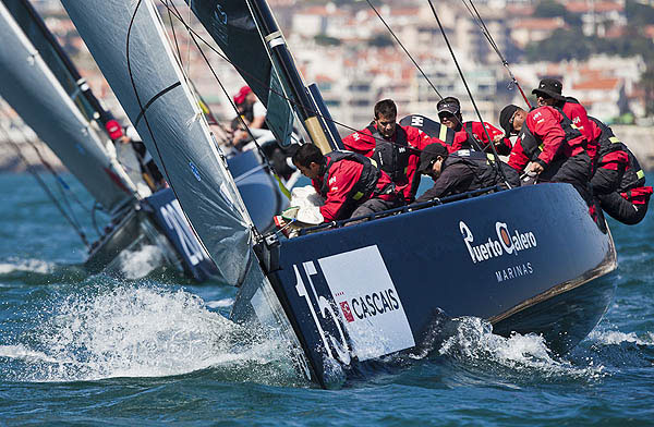 Day 1 of the RC44 Cascais Cup 2012, Portugal. Photo copyright Guido Trombetta for Studio Borlenghi.