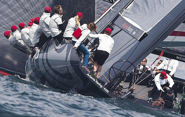 Day 4 of the RC44 Cascais Cup 2012, Portugal. Photo copyright Guido Trombetta for Studio Borlenghi.